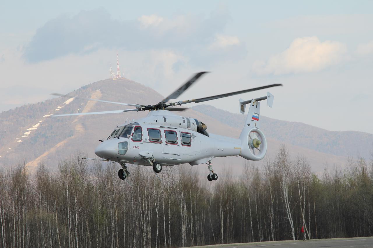 Первый опытный образец (ОП-1) среднего многоцелевого вертолета Ка-62.