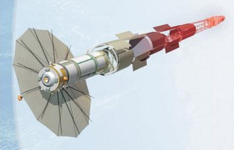 Экспериментальный космический аппарат с ядерной энергетической установкой