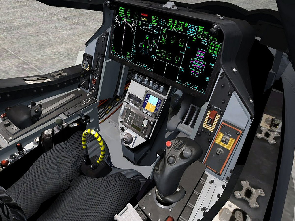 Кабина F-35.