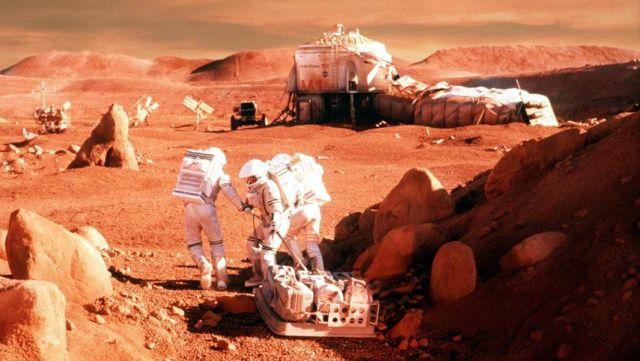 """Кадр из фильма """"Миссия на Марс"""""""