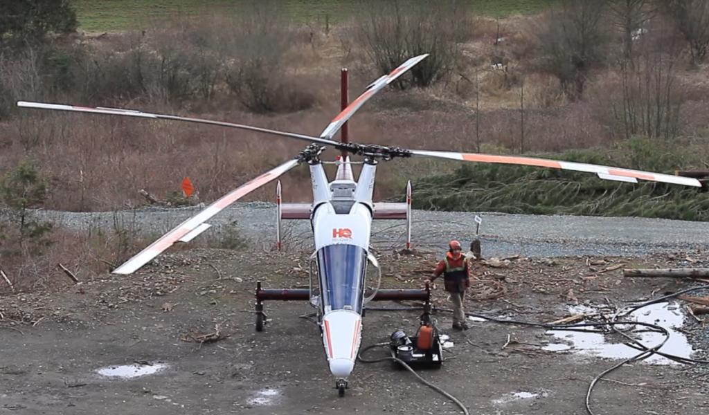 Вертолет Kaman K-Max, так называемый synchropters.