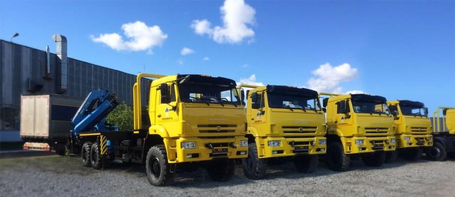 КАМАЗ-6522-RG c кранами-манипуляторами ИМ-240-3.