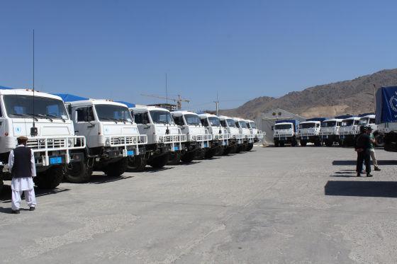 Передача КАМАЗов для ООН в Кабуле