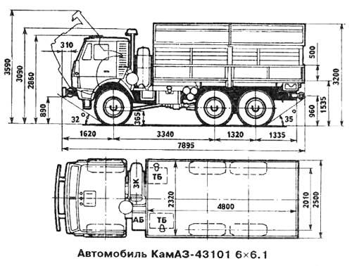 Схема КАМАЗ 43101