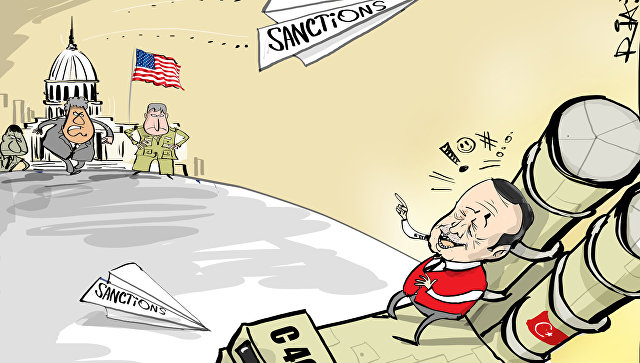 Карикатура на отношения Турции и НАТО.