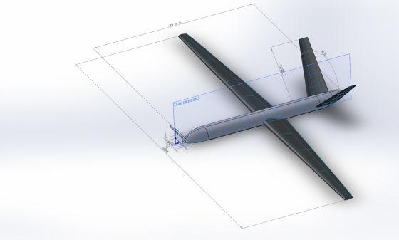Картинка с 3D модели БПЛА