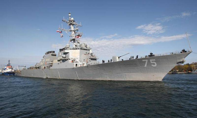 """Эсминец военно-морского флота США """"Дональд Кук""""."""