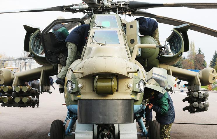 Вертолет Ми-28НМ.