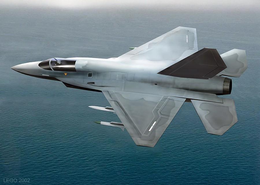 Возможный внешний облик южнокорейского перспективного многоцелевого истребителя KAI KF-X.