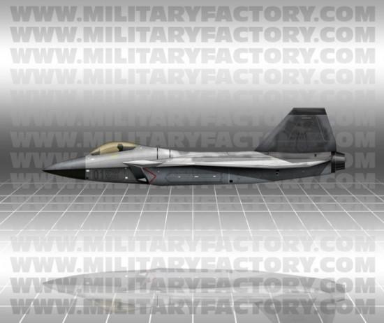 Изображение южнокорейского перспективного истребителя KF-X.