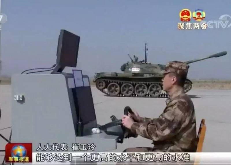 Китайский беспилотный танк Type 59.
