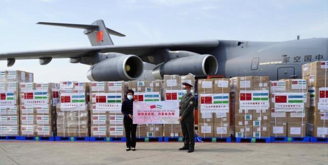 Китайский военно-транспортный самолет Y-20 в Узбекистане