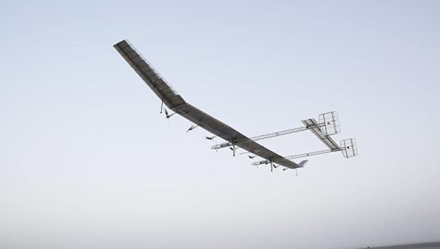 Китайский беспилотник на солнечных батареях.