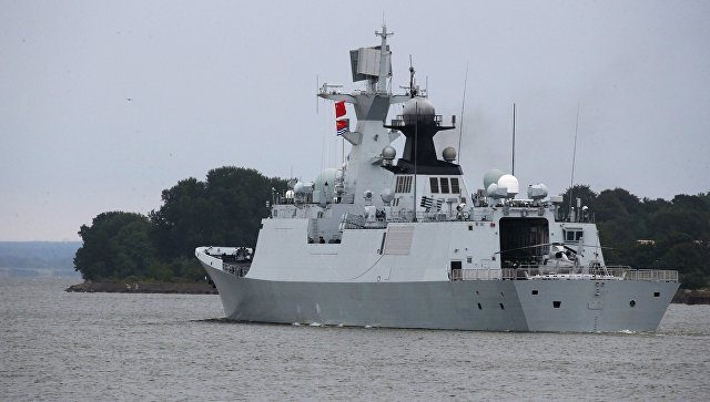 Китайский фрегат Юньчэн. Архивное фото.