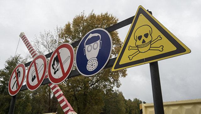 Площадка открытого хранения обожженных боеприпасов с отравляющими веществами на объекте Кизнер в Удмуртии.
