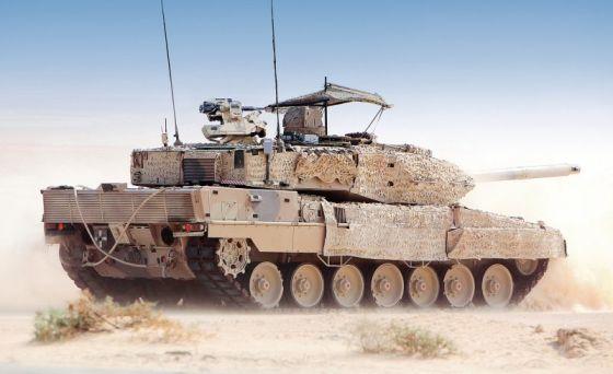Демонстрационный образец танка Leopard 2A7+