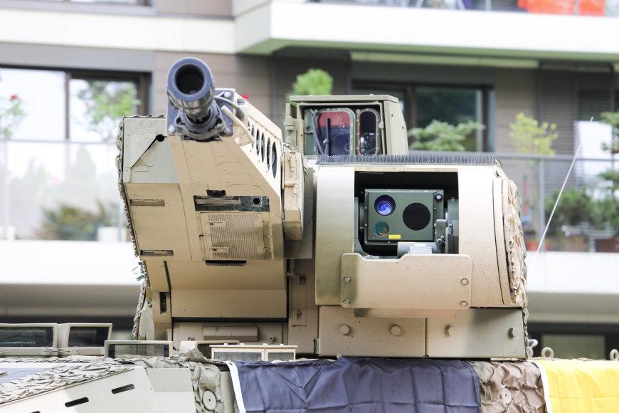 Необитаемая башня KMW RCT-30 с 30-мм автоматической пушкой Rheinmetall MK 30-2/ABM, выбранная для планируемого к закупке Литвой бронетранспортера ARTEC GTK Boxer в конфигурации PuBo.