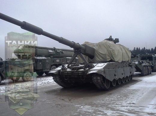 """Самоходное артиллерийское орудие 2С35 """"Коалиция-СВ""""."""