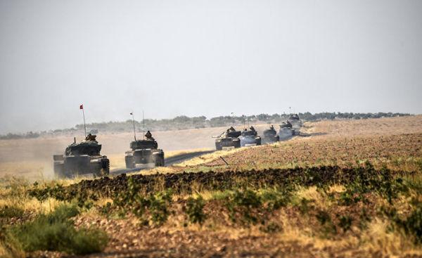 Колонна турецких танков