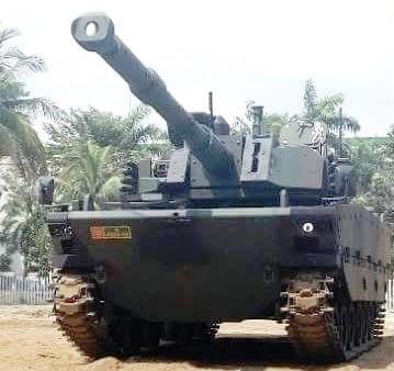 """Комплектный опытный образец """"среднего"""" танка Kaplan MT турецко-индонезийской разработки после сборки на предприятии индонезийского объединения PT Pindad в Бандунге, сентябрь 2017 года."""