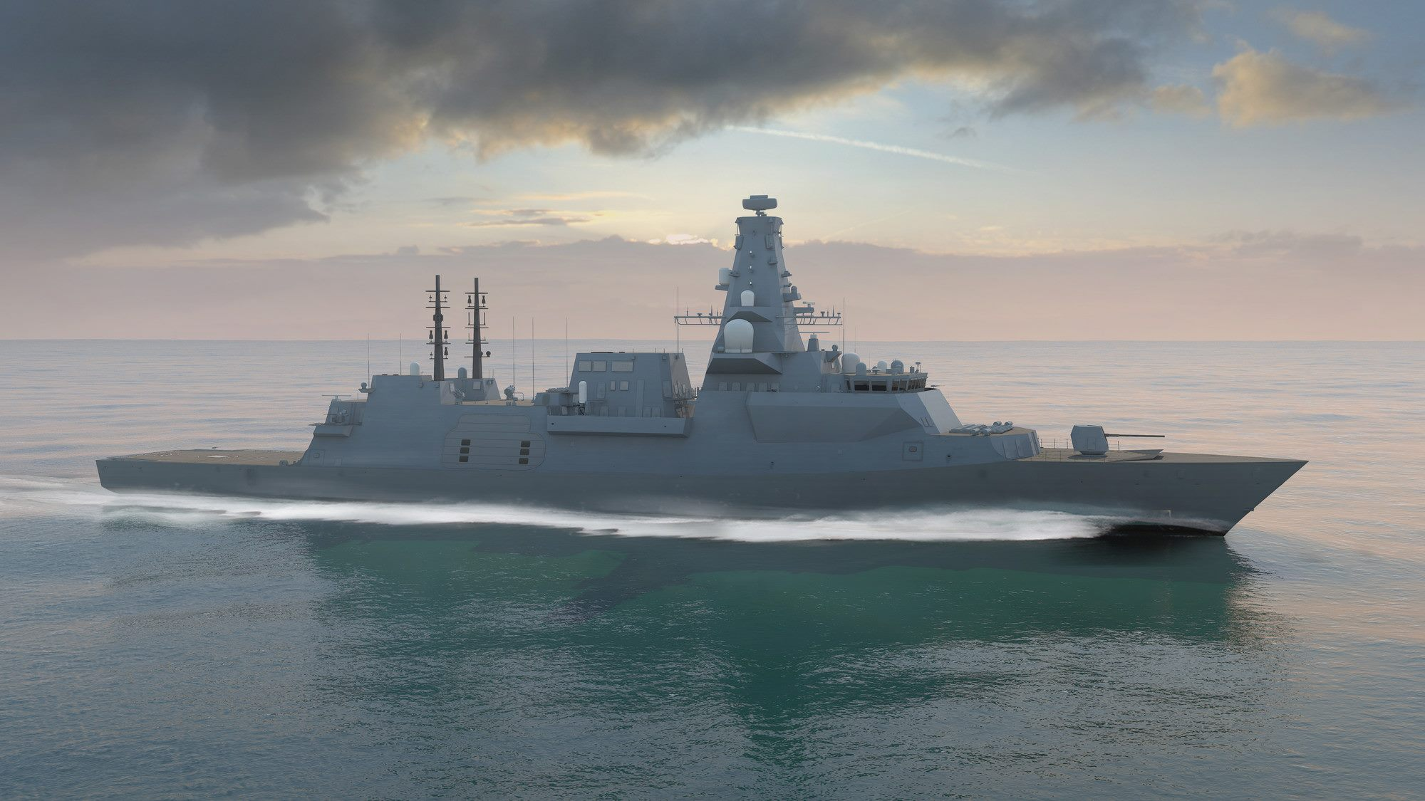 Концепт фрегата Тип 26 королевских ВМС Великобритании.