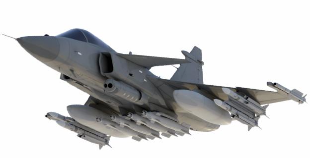 Концепт истребителя Gripen E.