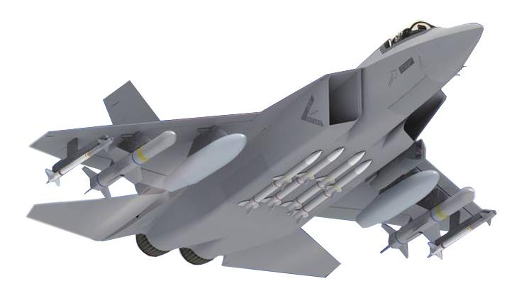 Концепт южнокорейского истребителя KF-X.