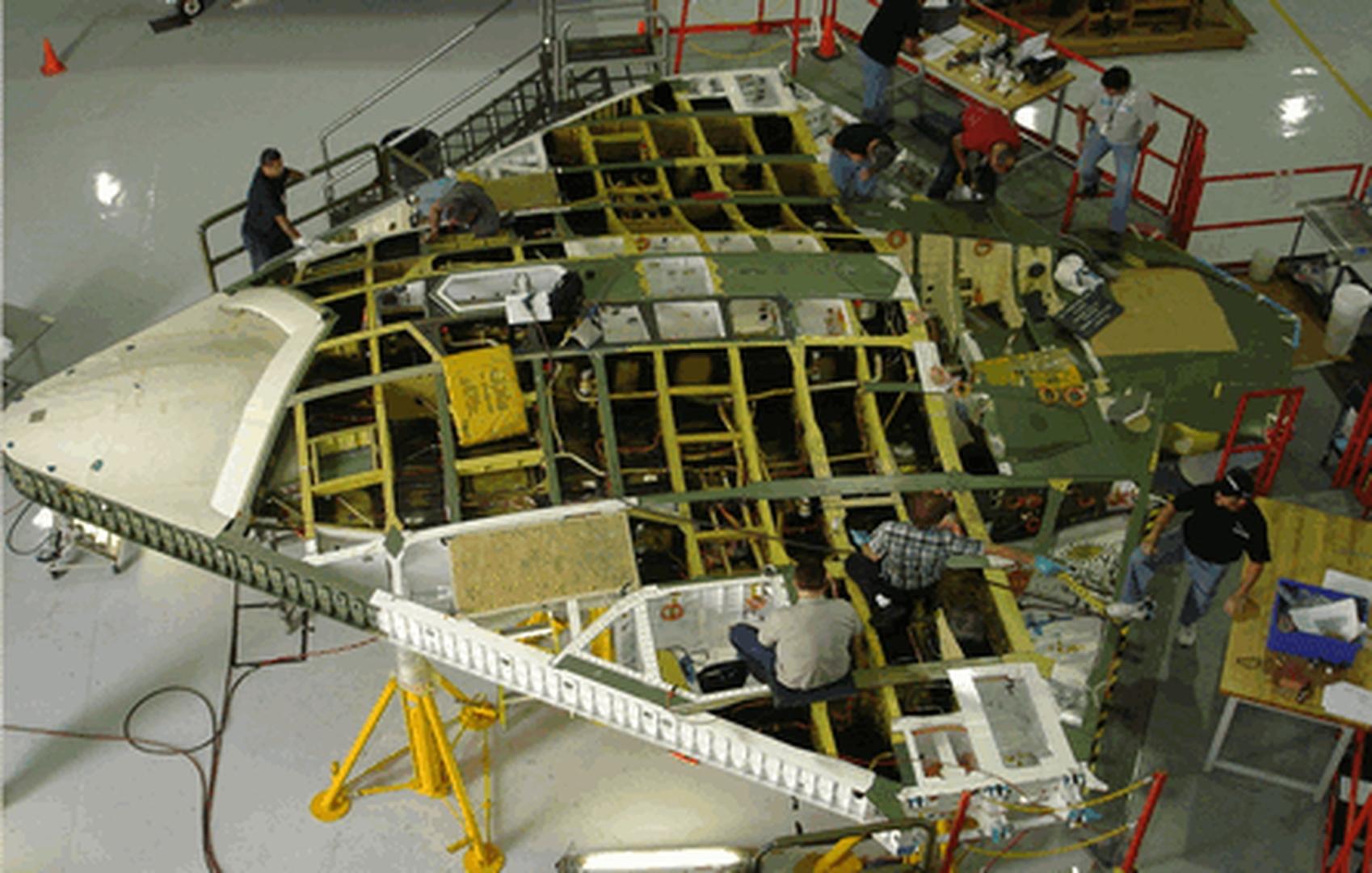 КСС фюзеляжа БПЛА X-47B.
