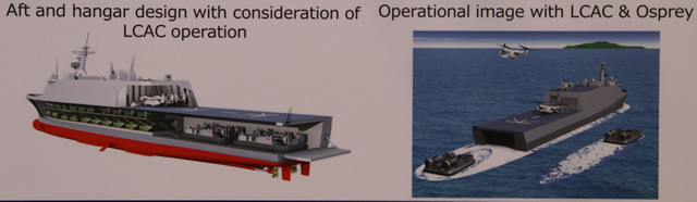 Концепт японского десантного корабля-дока.