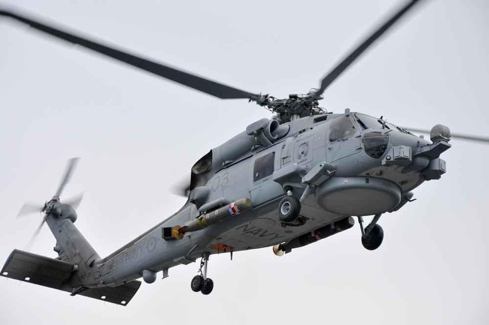 Корабельный вертолет Lockheed Martin (Sikorsky) MH-60R Seahawk авиации ВМС Австралии.