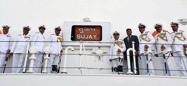 """Патрульный корабль прибрежной зоны """"Суджай"""" (SUJAY) класса """"Санкальп"""" (CGOPV) ВМС Индии."""