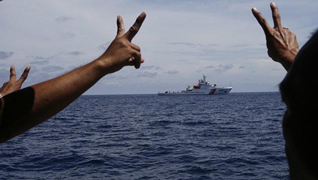 Корабль береговой охраны Китая в Южно-Китайском море.