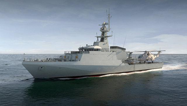 Корабль Forth, изготовленный компанией BAE Systems.