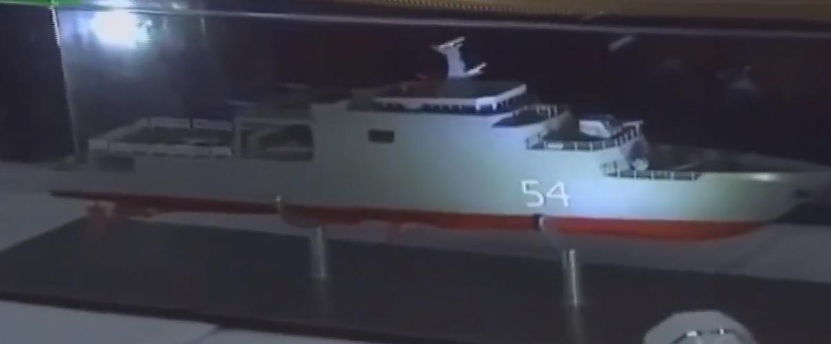 """Облик введенного в состав ВМС Мьянмы головного патрульного корабля Inlay (бортовой номер """"54"""") национальной постройки."""