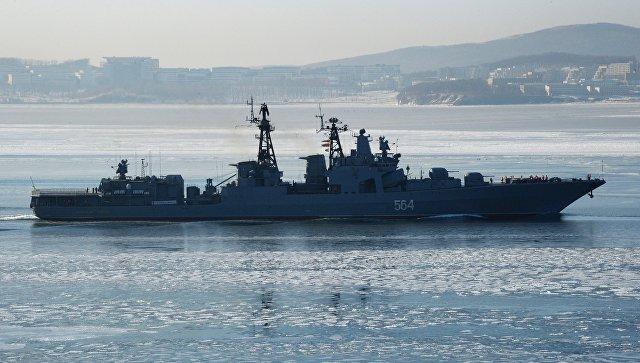 Корабль ТОФ. Архивное фото.