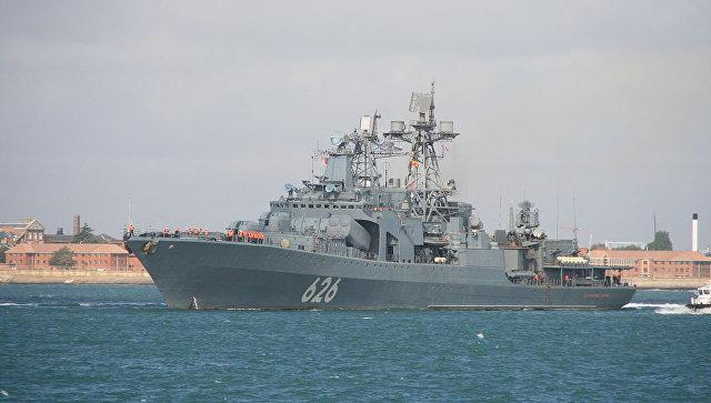Корабль ВМФ России Вице-адмирал Кулаков. Архивное фото.