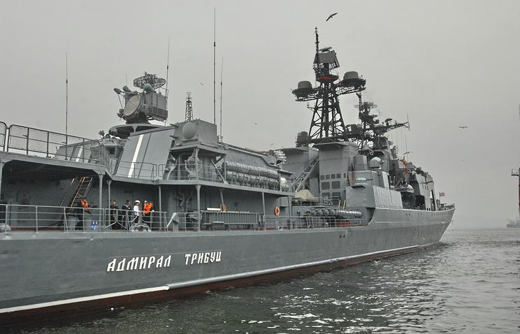 """Большой противолодочный корабль """"Адмирал Трибуц""""."""