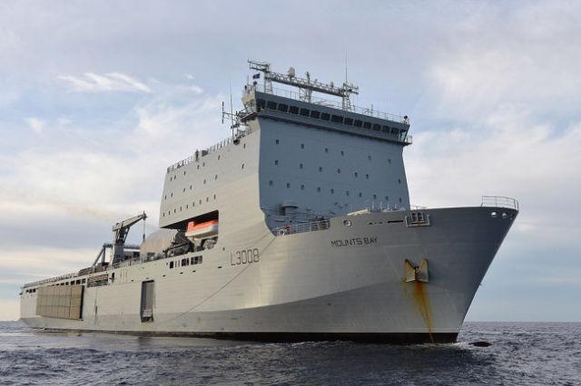 Корабль-носитель беспилотных аппаратов Mouts Bay.