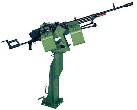 12,7 мм пулемет &quot;КОРД&quot; 6П59 на установке 6У16 и стойке СП<br>Фото с сайта http://www.zid.ru/.