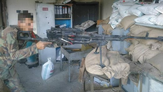 Российский 12.7-мм пулемет КОРД в Сирии.