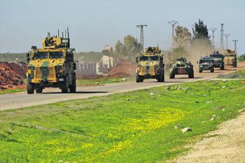 Коронавирус не повлиял на совместное патрулирование российских и турецких военных. Фото с сайта www.msb.gov.tr