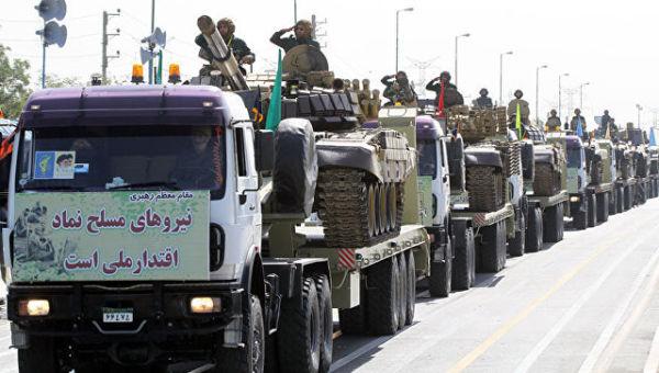 Корпус стражей исламской революции на параде во время Недели Священной Обороны. Архивное фото