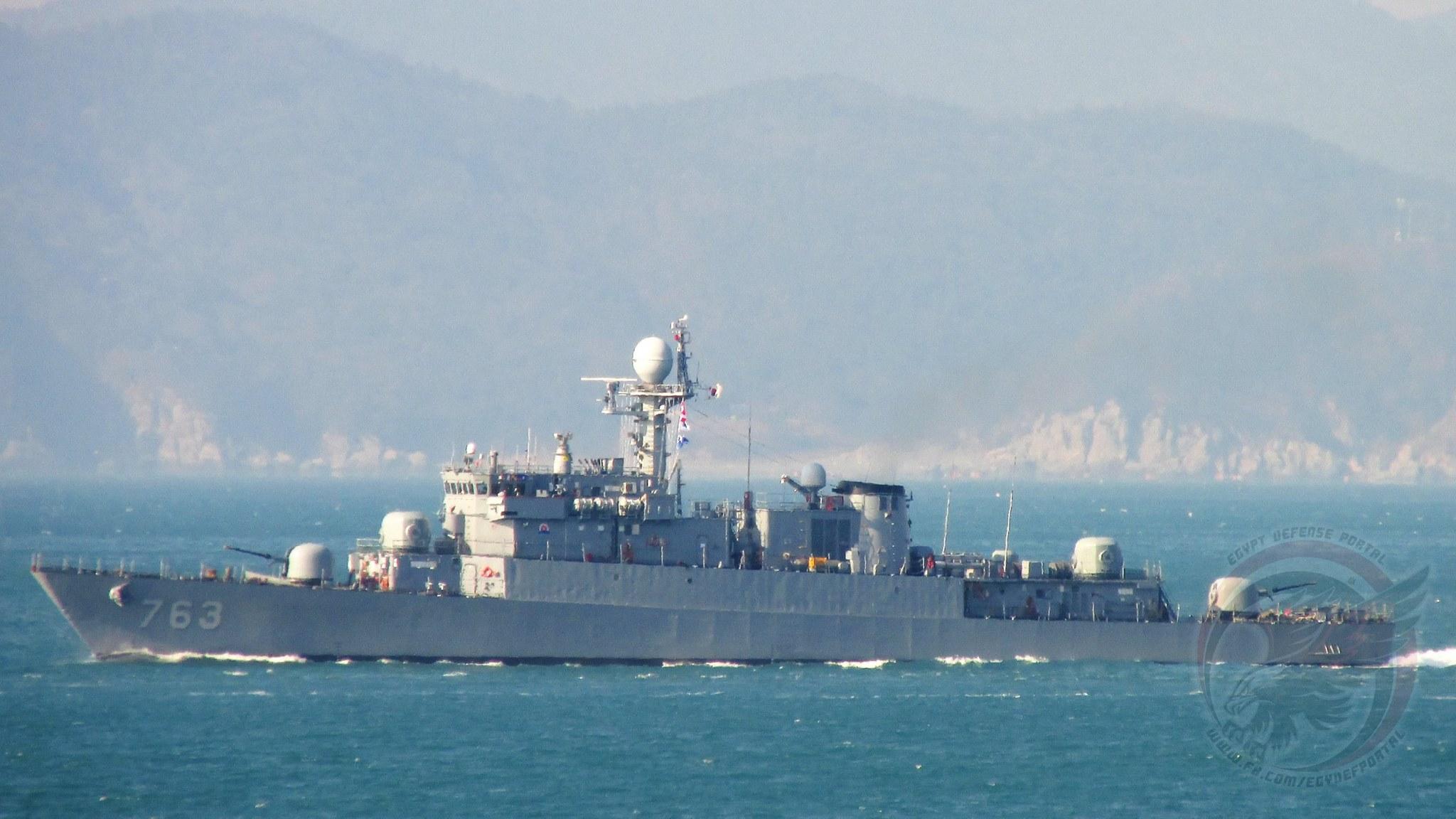 Передаваемый Египту корвет PCC 763 Jinju (типа Pohang) в период пребывания в составе ВМС Южной Кореи.