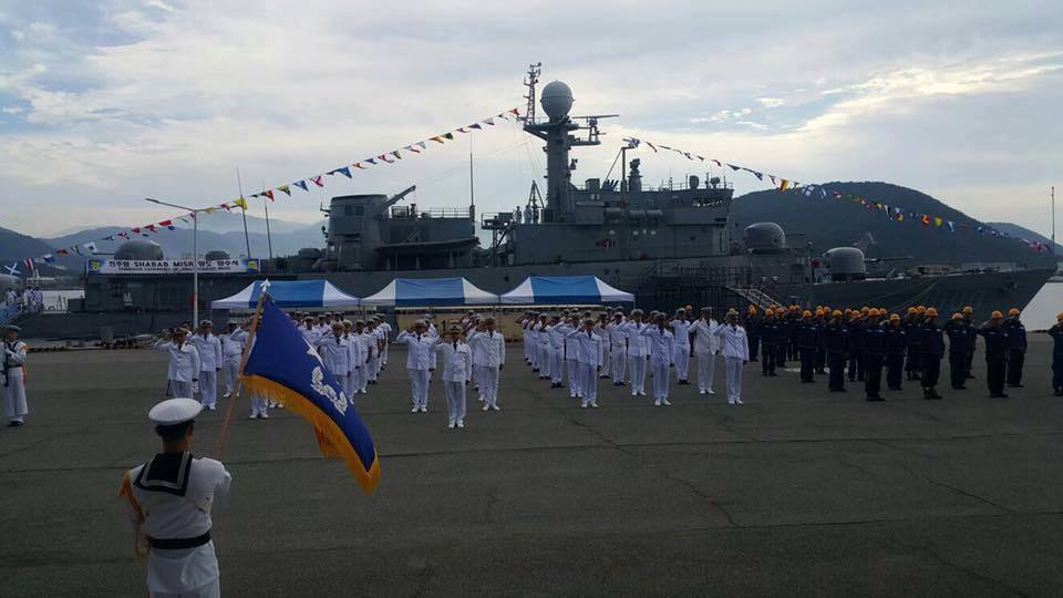 """Переданный ВМС Египта выведенный из состава ВМС Южной Кореи корвет PCC 763 Jinju (типа Pohang), получивший египетское название Shabab Misr (бортовой номер """"1000""""), 22.09.2017."""