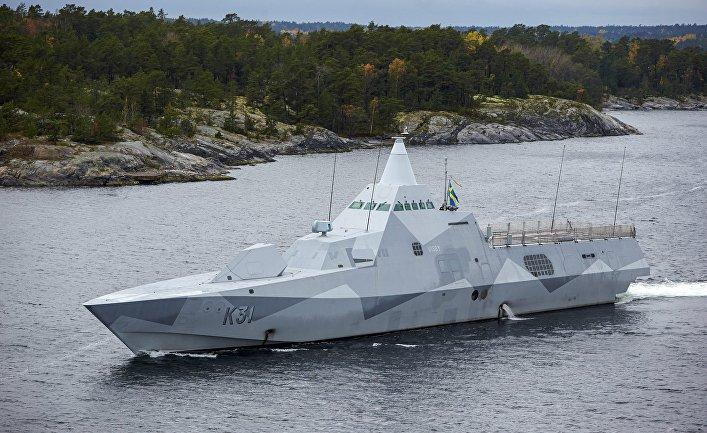 """Корвет """"Висбю"""" ВМС Швеции."""