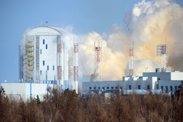 Космодром Восточный после старта ракеты-носителя