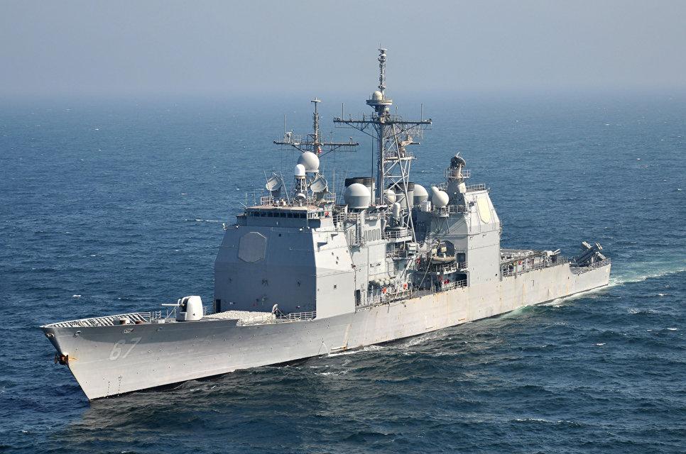 """Крейсер """"Шайло"""" ВМС США."""