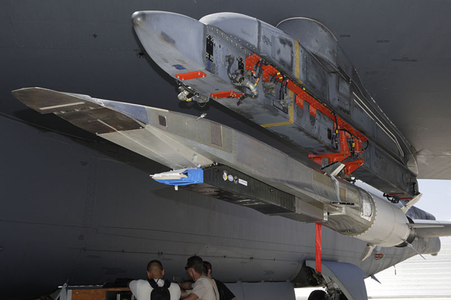 Разрабатываемая в США гиперзвуковая крылатая ракета X-51A Waverider.