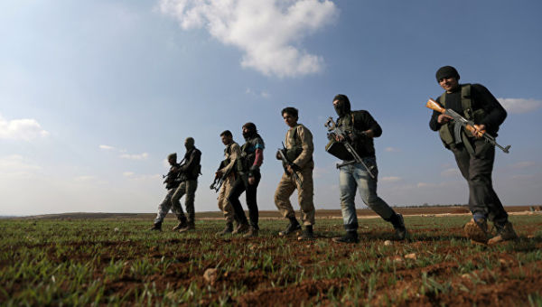 Курдские бойцы в Алеппо
