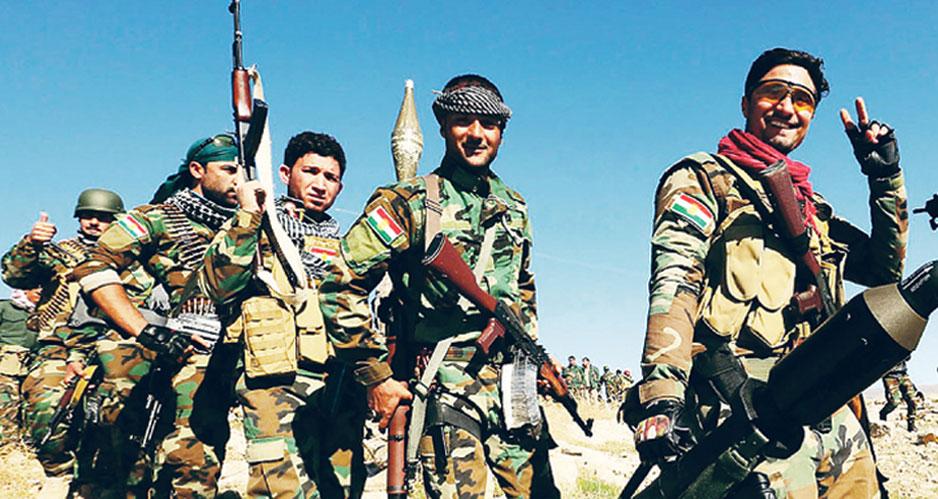 Курдские отряды.